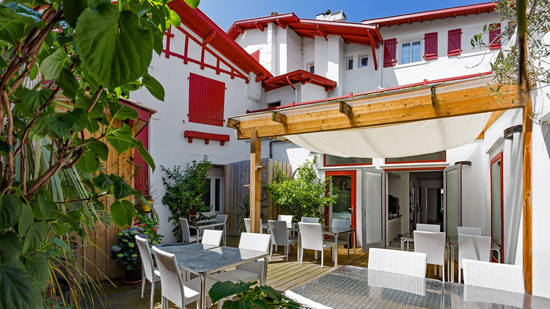 Hôtel à Biarritz avec jardin
