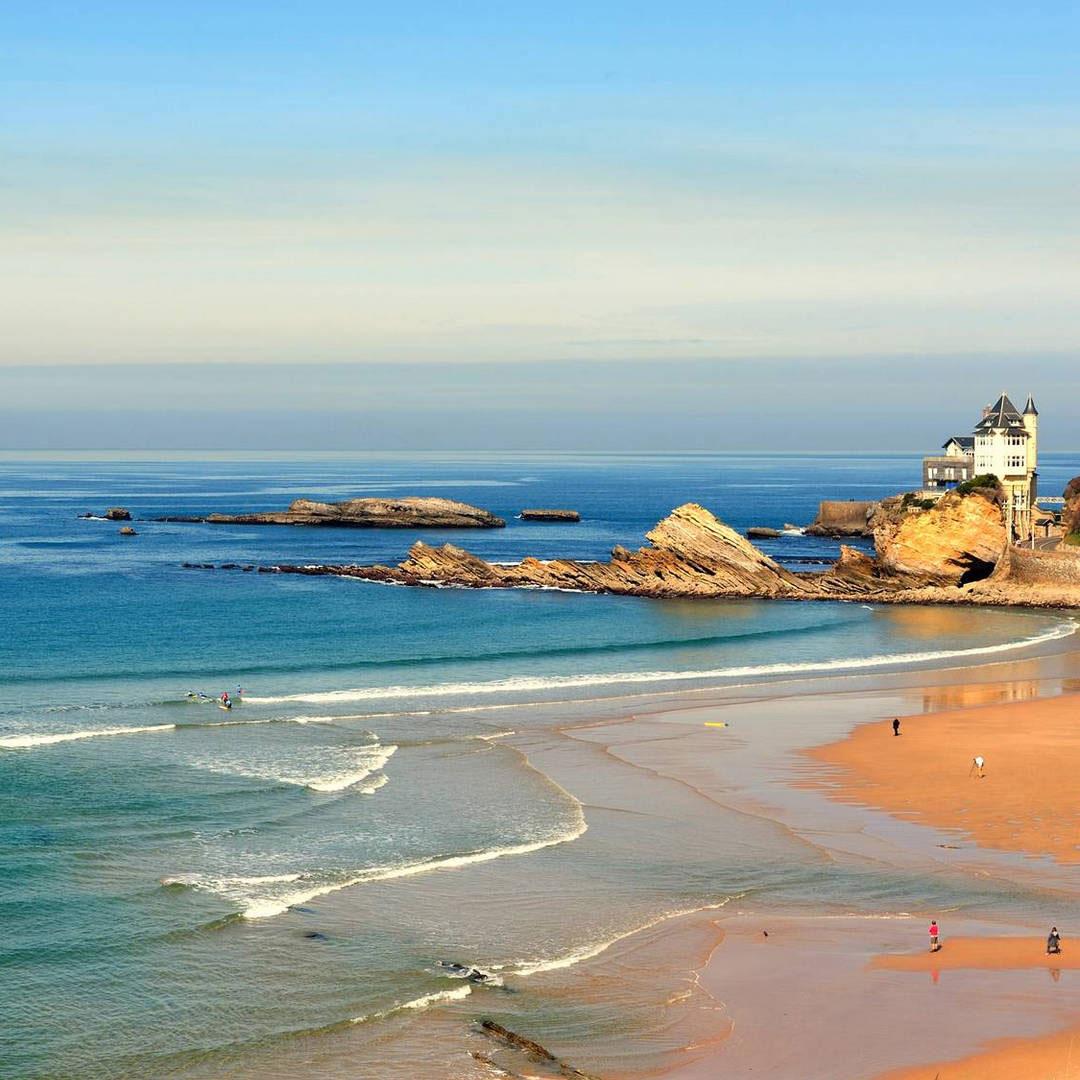 Hotel Biarritz plage de la Côte des basques